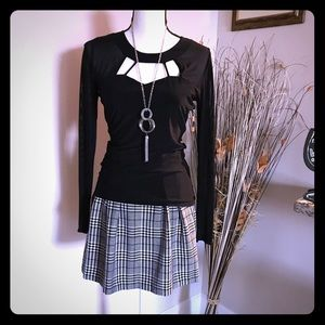 Candies Checkered Pleated Black/White Skirt size 5